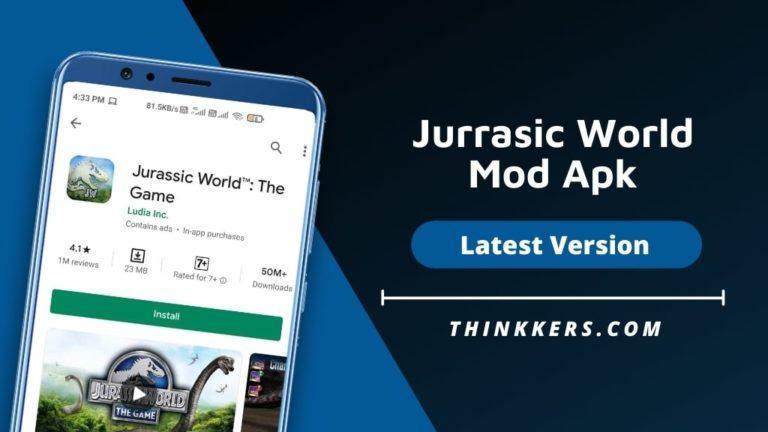 jurassic world mod apk v1472 everything unlocked download